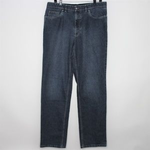 Hiltl Mens 34 x 33 Relax Blue Zip Fly Jeans Q291